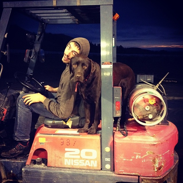 #NZWine #Vintage #Forklift #Frenchman #Dog #Love