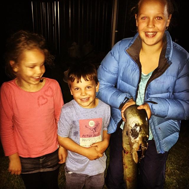 Successful eel hunters! #Forage #NorthCanterbury