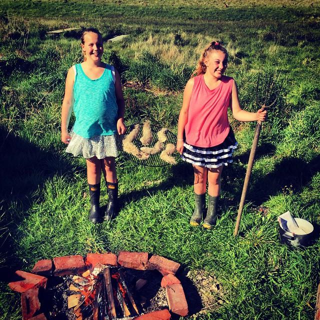 Lambs Tails. Kiwi Girls. Sparkly skirts. Gumboots. #KiwiAs #FoodFarm