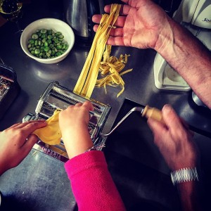 Pasta making is a family effort on The Food Farm