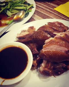 Teasmoked duck at Ying Chow Cos when in Rome