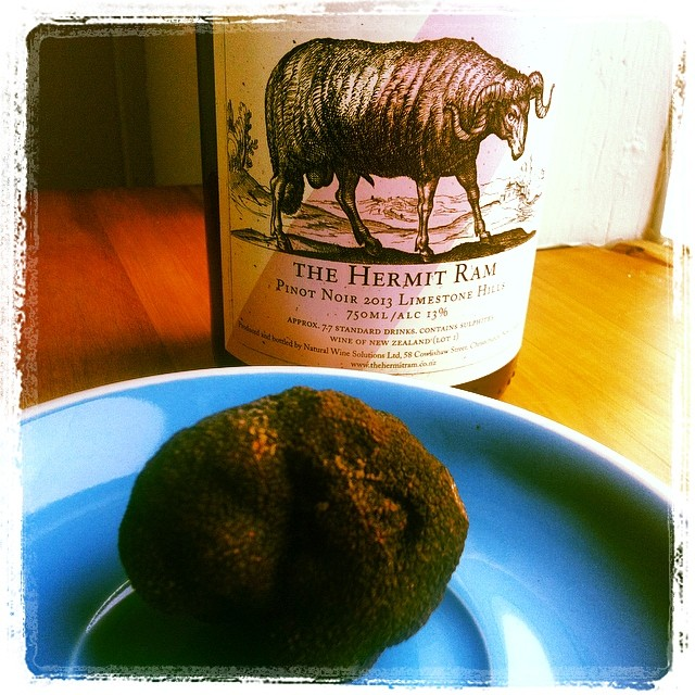 Haul from Limestone Hills this morning. #Perigord #Truffle and #HermitRam #PinotNoir. So much #NorthCanterbury goodness in this photo.