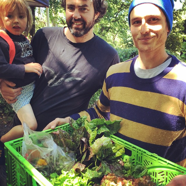 Love this man Jamie (centre) & @samuel_marchant for all their support of local growers through the @christchurchfarmersmarket, @towntonic, @riccarton_house_bistro & Passengers & Co. It would be a lesser city without them. #Christchurch #Local #Food