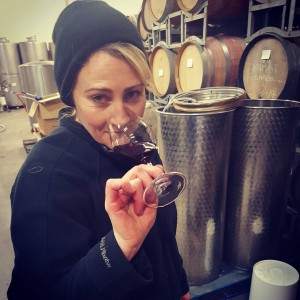 Beanie amp coat weather in the winery today working onhellip