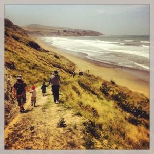 Beach Days. Mount Cass Beach, Waipara Valley.
