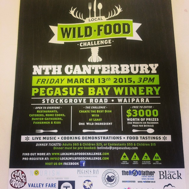 Looking forward to this! Organised by @janninerickards, & featuring some of my other favourite #NorthCanterbury people. Should be a lot of fun. Million dollar question: will there be porcini in time? #Food #Wine #NzWine #WildFood #Forage #Christchurch #Canterbury