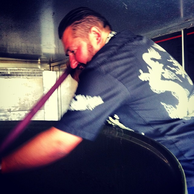 @jonnyschwass on the ninja plunge. #NZWine #V14