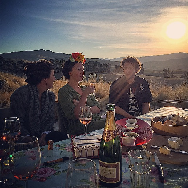 Perfect #NorthCanterbury evening for a little end of vintage dinner.