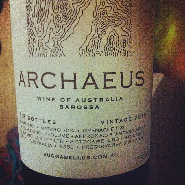 Beautiful wine @Ruggabellus Enjoying it tonight with @tewharerawines over much discussion about where we've come from & going to.