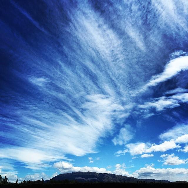 Wind blown sky. #NorWester #NorthCanterbury #NZ #Spring