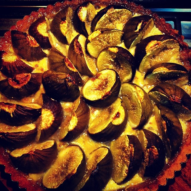 Fresh fig tart. #FoodFarm