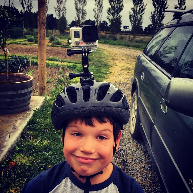 40th birthday party preparations. Cake ✅ Champagne ✅ Two turntables and a microphone ✅ Small boy with helmet and #GoPro attached ✅