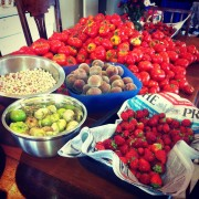 Just some of The Food Farm harvest before the grapes are ready!